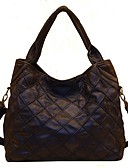 cheap Women's Dresses-Women's Bags Cowhide Shoulder Bag Tiered Black