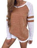 cheap Women's T-shirts-Women's Basic T-shirt - Solid Colored Brown M / Spring / Fall