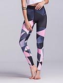 tanie Getry-Damskie Sportowy Legging - Geometric Shape, Nadruk Średni Talia / Sportowy look