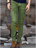 cheap Men's Pants & Shorts-Men's Military Punk & Gothic Cotton Slim Chinos Pants - Solid Colored