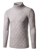 tanie Męskie swetry i swetry rozpinane-Męskie Rozmiar plus Golf Pulower Pled Długi rękaw