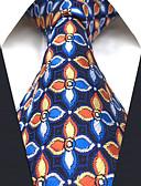 olcso Férfi nyakkendők és csokornyakkendők-Férfi Virágos Szivárvány Jacquardszövet Alap Műselyem, Munkahelyi - Nyakkendő