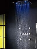 זול שמלות נשף-ברז למקלחת - LED / מודרני / עכשווי כרום מערכת למקלחת שסתום קרמי / Brass