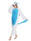 baratos Pijamas Kigurumi-Adulto Pijamas Kigurumi Unicórnio Pijamas Macacão Ocasiões Especiais Lã Polar Azul Cosplay Para Pijamas Animais desenho animado Dia das Bruxas Festival / Celebração / Natal