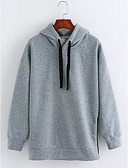 cheap Women's Sweaters-Women's Cotton Hoodie - Solid Colored / Fall / Winter