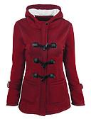 preiswerte Damen Blazers & Anzugjacken-Damen Solide Street Schick Alltag Festtage Standard Jacke, Mit Kapuze Winter Herbst Polyester