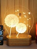 tanie Suknie dla druhen-1kpl 3D Nightlight Przysłonięcia / Dioda LED / Dekoracyjna 5 V Artystyczny / DOPROWADZIŁO / Nowoczesny / współczesny