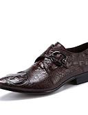 ieftine Paltoane Trench Femei-Bărbați Pantofi formali Piele Primăvară / Toamnă Afacere pantofi de nunta Negru / Cafea / Nuntă / Party & Seară / Pantofi rochie