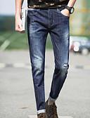זול מכנסיים ושורטים לגברים-בגדי ריקוד גברים מכנסיים ג'ינסים מכנסיים אחיד