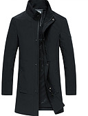 cheap Men's Jackets & Coats-Men's Jacket - Solid Colored Stand / Long Sleeve