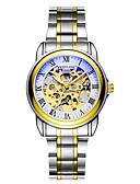 ieftine Ceasuri Mecanice-Bărbați ceas mecanic Japoneză Mecanism automat Oțel inoxidabil Argint / Auriu Rezistent la Apă Cronograf Iluminat Analog Lux Casual Modă Elegant Crăciun - Negru Argintiu Argintiu / negru