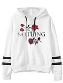 preiswerte Damen Kapuzenpullover & Sweatshirts-Damen Street Schick Kapuzenshirt Blumen / Herbst / Winter
