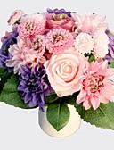 baratos Vestidos para Daminhas de Honra-Flores artificiais 8.0 Ramo Estilo Moderno Rosas / Margaridas Flor de Mesa