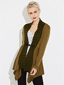 cheap Women's Sweaters-Women's Long Sleeves Cardigan - Solid V Neck