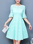 cheap Women's Dresses-Women's Cotton Sheath Dress - Solid Colored High Rise