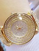 billige Trendy klokker-Dame Armbåndsur Japansk Quartz 30 m Hverdagsklokke Rustfritt stål Band Analog Sjarm Sølv / Gylden - Gull Sølv