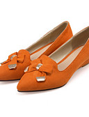 cheap Women's Blouses-Women's Shoes Suede Spring / Fall Comfort / Novelty Flats Pointed Toe Bowknot / Rivet Orange / Light Yellow / Brown / Party & Evening
