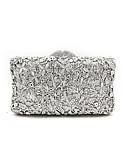abordables Bufandas de Moda-Mujer Bolsos Metal Bolso de Noche Detalles de Cristal / Flor Plata / Bolsos de boda