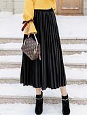 זול חצאיות לנשים-אחיד - חצאיות חצאית סגנון רחוב בגדי ריקוד נשים / סתיו