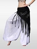 hesapli Dans Aksesuarları-Göbek Dansı Göbek Dansı Hip Şalları Kadın's Eğitim Polyester Kristaller / Yapay Elmaslar Püsküllü Göbek Dansı Kalça Atkısı