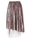 preiswerte Hosen & Röcke für Damen-Damen Baumwolle Schaukel Röcke - Solide Gitter