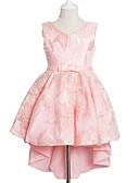 זול שמלות נשים-שמלה פוליאסטר קיץ סתיו ללא שרוולים חגים פרחוני הילדה של חמוד נסיכות פול אודם ורוד מסמיק