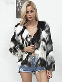 cheap Women's Pants-Long Sleeve Faux Fur Wedding / Party / Evening Women's Wrap With Coats / Jackets