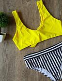 abordables Biquinis y Bañadores para Mujer-Mujer Bandeau Bikini - Estampado, A Rayas Pícaro Con Tirantes