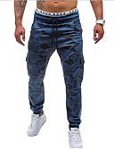 baratos Calças e Shorts Masculinos-Homens Activo / Militar Algodão Solto / Activo / Chinos Calças - camuflagem / Esportes / Final de semana