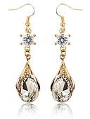 levne Svatební bolerka-Dámské Křišťál Visací náušnice Křišťál Náušnice dámy Klasické Sladký Elegantní Šperky Zlatá Pro Zásnuby Dar