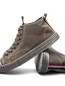 baratos Calças e Shorts Masculinos-Homens sapatos Tule Primavera / Outono Conforto Tênis Preto / Cinzento / Khaki