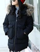 tanie Kurtki i płaszcze dla dziewczynek-Dzieci Dla dziewczynek Jendolity kolor Długi rękaw Odzież puchowa / pikowana