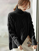 cheap Women's Dresses-Women's Holiday Long Sleeve Pullover - Solid Colored Turtleneck / Fall