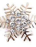 tanie Sukienki-Broszki - Imitacja diamentu Płatek śniegu Prosty, Klasyczny, Modny Broszka Złoty / Srebrny Na Codzienny