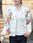 cheap Women's Downs & Parkas-Women's Basic Padded - Floral, Print / Winter