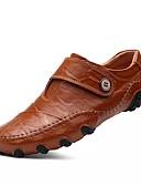 ieftine Plovere de Damă-Bărbați Pantofi Piele de Căprioară Primăvară / Vară / Toamnă Confortabili / Noutăți Oxfords Negru / Maro