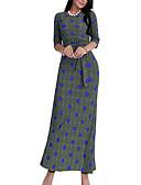 tanie Sukienki-Damskie Pochwa Sukienka - Geometric Shape Maxi