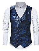 hesapli Erkek Blazerları ve Takım Elbiseleri-Erkek Günlük Sonbahar / Kış Normal Vesta, Solid V Yaka Kolsuz Polyester Havuz / Siyah M / L / XL / İnce