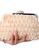 رخيصةأون فساتين الاشبينات-للمرأة أكياس البوليستر حقيبة تفاصيل لؤلؤ شامبانيا / أبيض / أسود / حقائب الزفاف / حقائب الزفاف