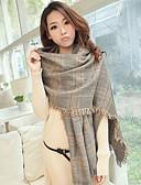preiswerte Schals-Damen Baumwolle Rechteck Gitter