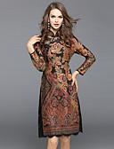 preiswerte Damen Kleider-Damen Ausgehen Street Schick / Chinoiserie A-Linie / Hülle Kleid - Spitze, Blumen Midi Ständer