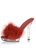 abordables Vestidos de Mujer-Mujer Zapatos Cuero Patentado Primavera / Verano Zapatos con luz / Zapatos del club Zuecos y pantuflas Tacón Stiletto / Tacón de cristal