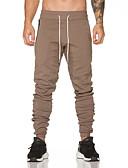 זול מכנסיים ושורטים לגברים-בגדי ריקוד גברים פשוט / וינטאג' מידות גדולות כותנה סקיני / מכנסי טרנינג מכנסיים אחיד / ספורט