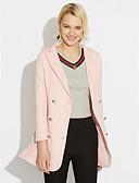 cheap Women's Blazers & Jackets-Women's Work Plus Size Blazer-Solid Colored,Pleated V Neck