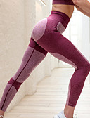 tanie Damskie spodnie-Damskie Sport / Codzienne Jednolity kolor Legging - Jendolity kolor / Wiosna / Jesień / Sportowy look / Obcisłe