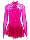 זול שמלות להחלקה על הקרח-שמלה להחלקה אמנותית בגדי ריקוד נשים / בנות החלקה על הקרח שמלות אפרסק ספנדקס ריינסטון גמישות גבוהה הצגה ביגוד להחלקה על הקרח עבודת יד