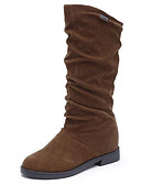 cheap Women's Down & Parkas-Women's Nubuck leather Winter Snow Boots Boots Low Heel Mid-Calf Boots Black / Brown / Wine