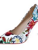hesapli Gelin Şalları-Kadın's Ayakkabı PU Kış Rahat / Temel Topuklu Topuklular Stiletto Topuk Sivri Uçlu Elbise için Beyaz / Siyah