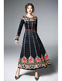 זול שמלות נשים-מקסי פרחוני - שמלה סווינג בוהו בגדי ריקוד נשים