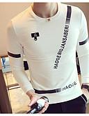 ieftine Maieu & Tricouri Bărbați-Bărbați Mărime Plus Size Manșon Lung Hanorca - Imprimeu, Mată Rotund